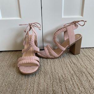 "JUSTFAB Soft Pink 3.5"" Heels"